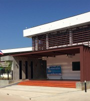 Entrance to new building