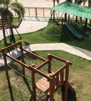 Top view of playground